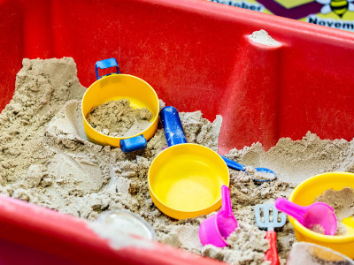 The sandpit in the play school