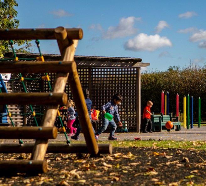 The pre school garden