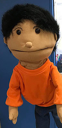 Freddy our persona doll