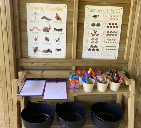 Creepy crawlies learning boards